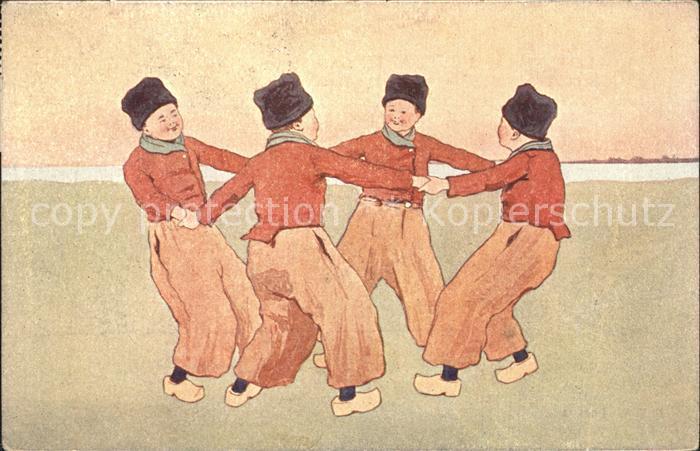 Trachten Holland Kinder Tanz Ringelreihen Kat. Trachten