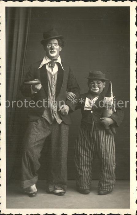 Clown Zirkus Liliputaner  Kat. Zirkus