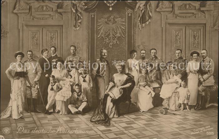 Adel Preussen Deutsches Kaiserhaus Wilhelm II. Kaiserin Auguste Viktoria Kat. Koenigshaeuser