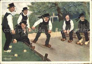 Sport Jeu de boules Boule Spiel Pont Aven Joueurs de Boules Kat. Sport