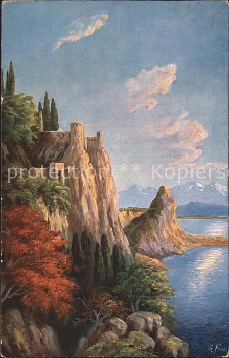 Fiebiger G. Landschaft Felsen Burg