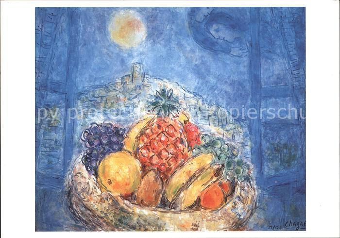 Kuenstlerkarte Marc Chagall Fruchtschale  Kat. Kuenstlerkarte