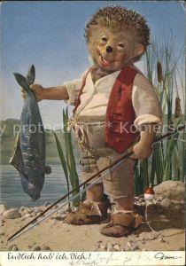 Mecki Nr. 317 Fisch Angelrute Angeln  Kat. Comic