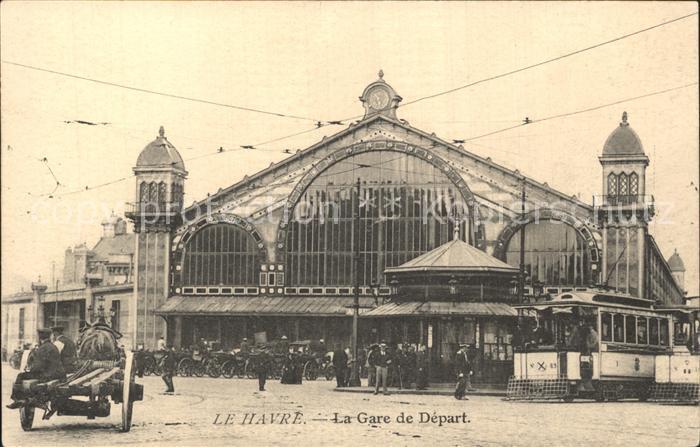 Strassenbahn Le Havre Gare de Depart Kat. Strassenbahn