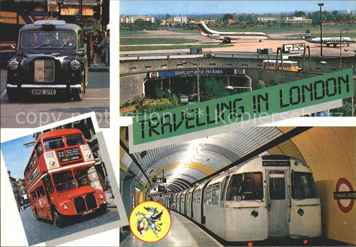 U Bahn Subway Underground Metro Autobus Flugzeug Heathrow Airport London