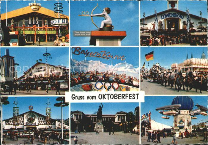 Oktoberfest Muenchen Loewenbraeu Braeurosl Achterbahn Bayern Kurve