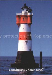 Leuchtturm Lighthouse Roter Sand  Kat. Gebaeude