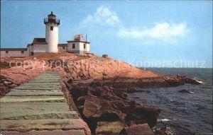 Leuchtturm Lighthouse Gloucester Eastern Point Light Breakwater / Gebaeude /