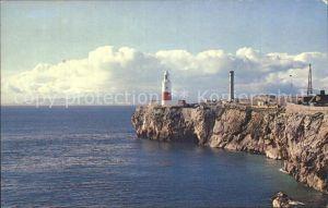 Leuchtturm Lighthouse Europa Point Gibraltar / Gebaeude /