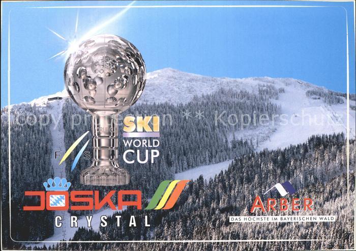 Skisport Ski World-Cup Pokal Joska Crystal Waldglashuette Arber  / Sport /