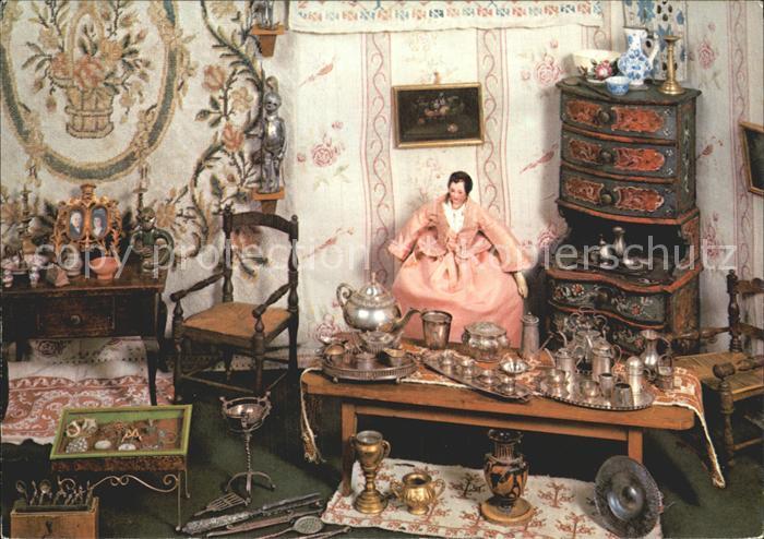 Puppen Puppen Antiquitaetenladen um 1900 Freilichtmuseum Kommern  Kat. Spielzeug