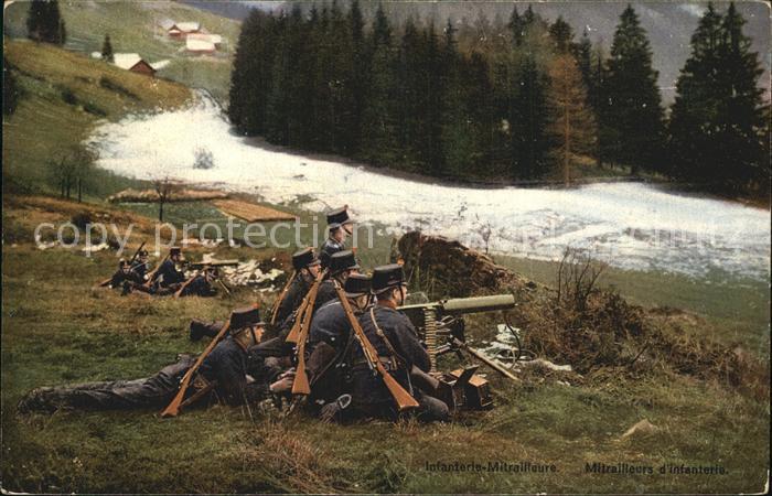 Grenze Douane Zoll Grenzbesetzung 1914 Infanterie Mitrailleure  Kat. Zoll