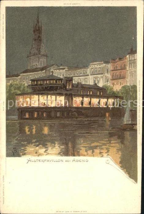 Biese Carl Karl Alsterpavillon Hamburg Kat. Kuenstlerlitho