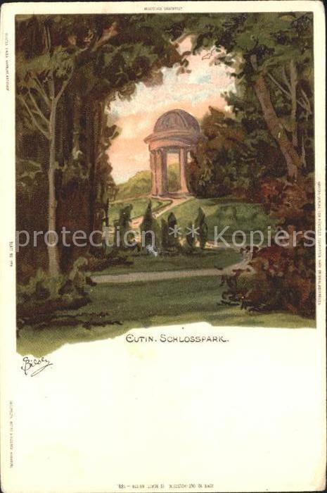 Biese Carl Karl Eutin Schlosspark  Kat. Kuenstlerlitho