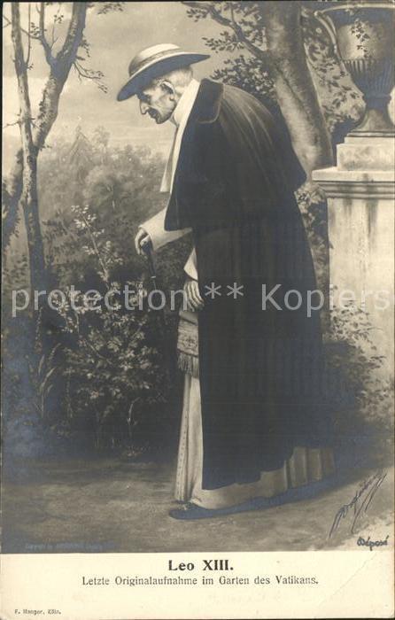 Papst Leo XIII. Letzte Aufnahme Garten Vatikan  Kat. Religion
