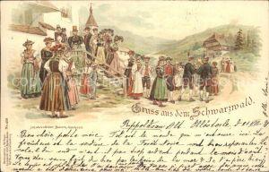 Hochzeit Bauern Hochzeit Schwarzwald Litho Kat. Greetings