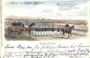 Manoever Kaiser Manoever Kaiser Parade Wilhelm II.  Kat. Manoever