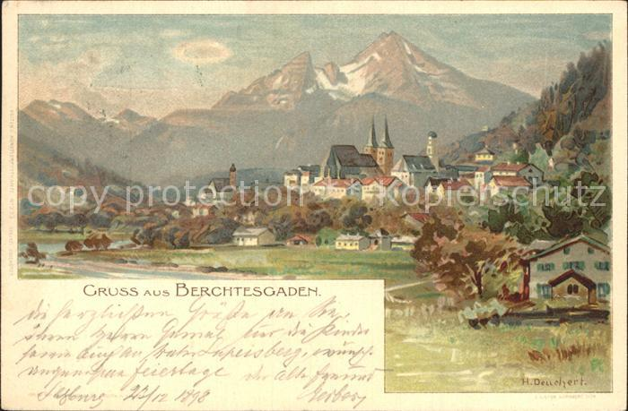 Deuchert Heinrich Berchtesgaden  Kat. Kuenstlerlitho