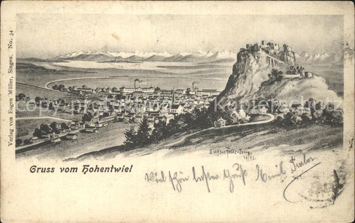 Felle Eugen Hohentwiel  Kat. Kuenstlerkarte