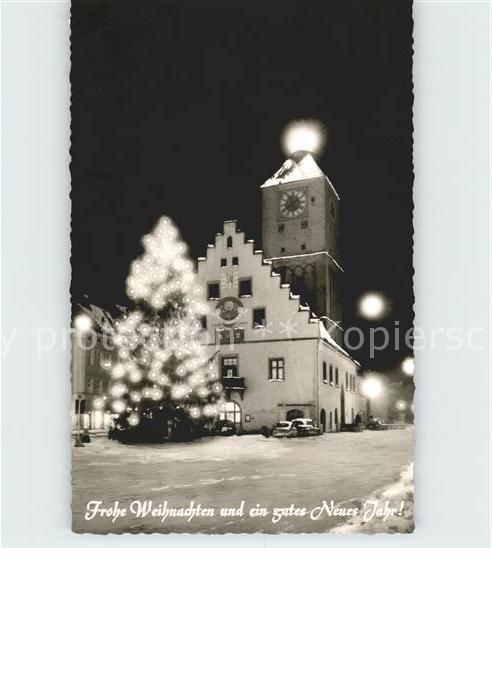 Deggendorf Donau Rathaus Weihnachtsstimmung / Deggendorf /Deggendorf LKR