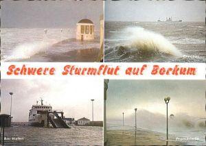 Borkum Nordseebad Schwere Sturmflut Am Hafen Promenade Brecher / Borkum /Leer LKR