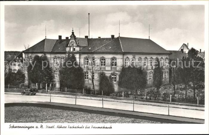 Schwenningen Neckar Fachschule fuer Feinmechanik Uhrenstadt / Villingen-Schwenningen /Schwarzwald-Baar-Kreis LKR