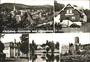 Unkeroda Wolfsburg Thueringen Haus Waldfrieden Wartburg Wilhelmsthal HO Gaststaette Hohe Sonne Kat. Marksuhl