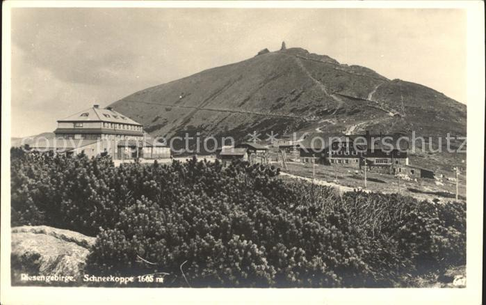 Schneekoppe Snezka Riesengebirge Kat. Riesengebirge Krkonose
