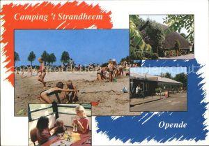 Opende Camping t Strandheem Strand