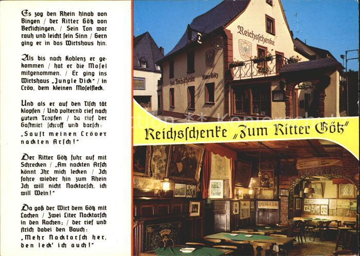 Kroev Mosel Reichsschenke Zum Ritter Goetz / Kroev /Bernkastel-Wittlich LKR