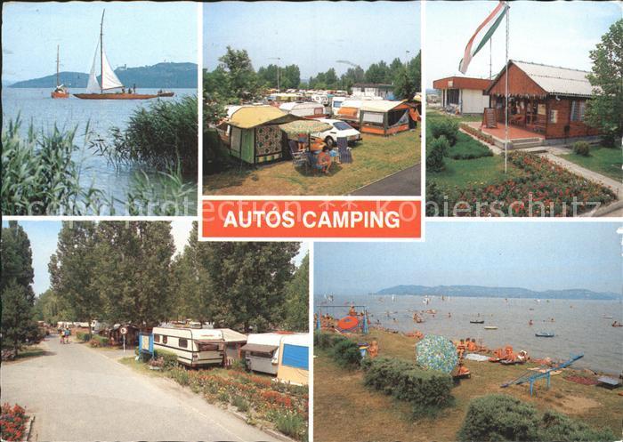 Magyar Velence Autos Camping Segelpartie Zeltplatz Bungalows Strandpartie Kat. Ungarn