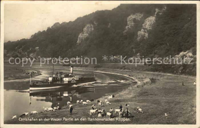 Carlshafen Partie an den Hannoverschen Klippen Kat. Bad Karlshafen