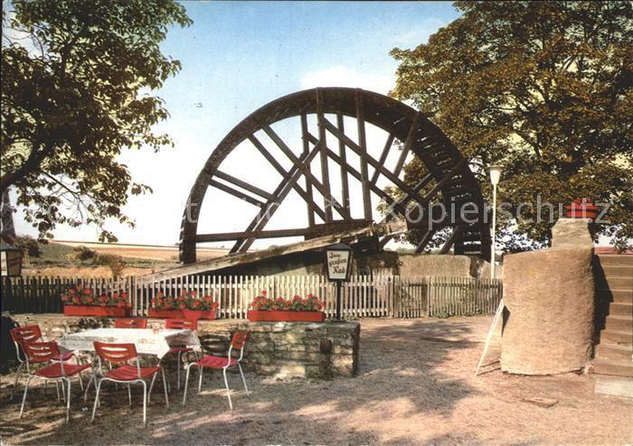 Schwalheim Bad Nauheim Das grosse Rad Gartenrestaurant