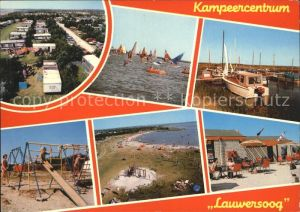 Lauwersoog Camping Hafen Strand