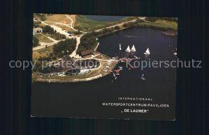 Lauwersoog Internationaal Watersportcentrum Paviljoen De Lauwer Zeilschool Surfschool Luchtfoto