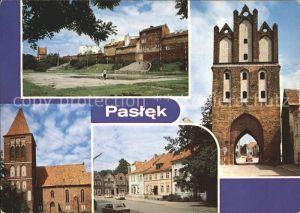 Paslek Fragment mista Kamienna Wieza Gotyck kosciol Ulica Boleslawa Chrobrego Kat. Paslek = Preussisch Holland