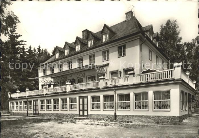 Bucha Unterwellenborn FDGB Ferienheim Aktivist Terrassenseite / Unterwellenborn /Saalfeld-Rudolstadt LKR