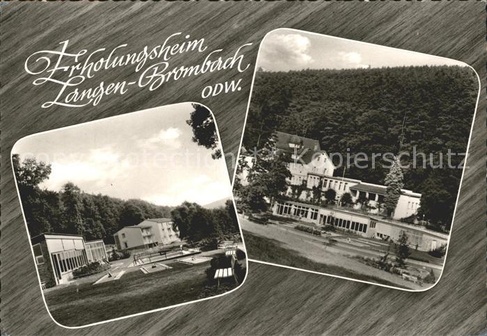 Langen Brombach Erholungsheim Kat. Brombachtal