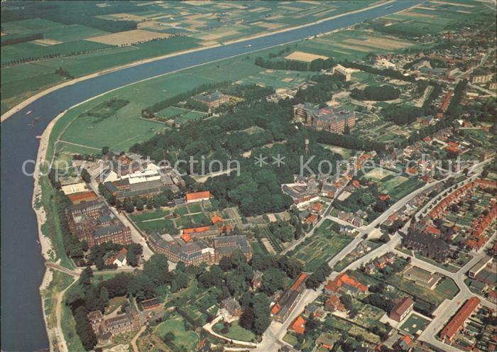 Steyl Niederlande Gemeinde Tegelen mit den 3 Gruendungen Fliegeraufnahme Kat. Niederlande