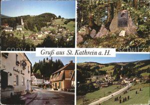 St Kathrein Total Roseggers Waldheimat Dorfpartie Kat. St Kathrein am Offenegg Steiermark