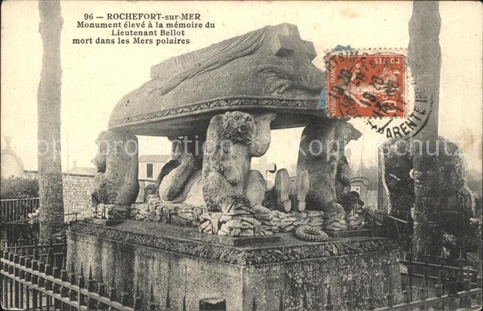 Rochefort sur Mer Monument eleve a la memoire du Lieutenant Bellot Kat. Rochefort Charente Maritime