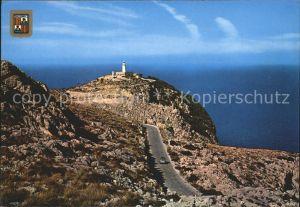 Formentor Leuchtturm und Landstrasse Kat. Cap Formentor Islas Baleares Spanien