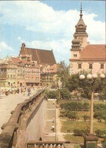 Warszawa Widok na Zamek Krolewski i Plac Zamkowy Kat. Warschau Polen