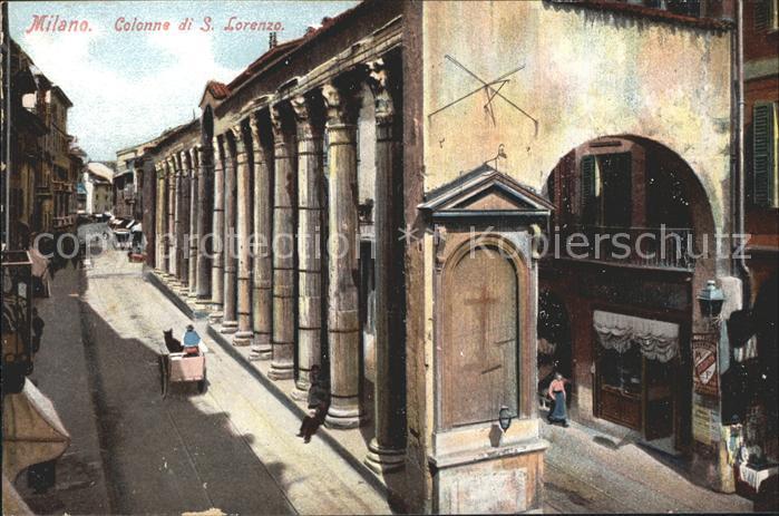 Milano Colonne di S Lorenzo Kat. Italien