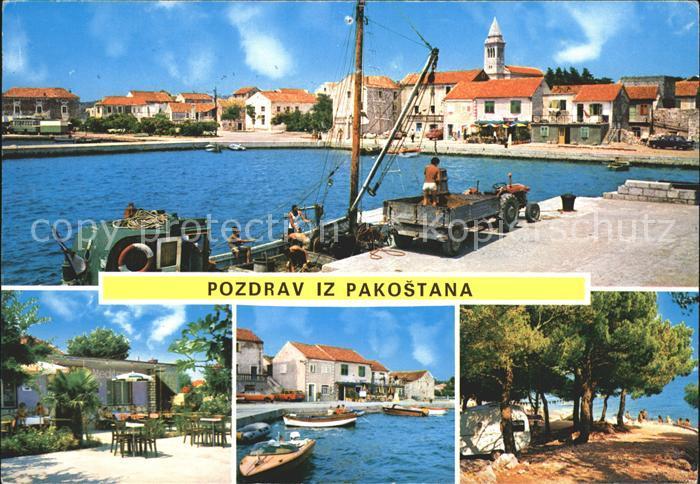 Pakostane Hafen Uferpromenade Strand Restaurant