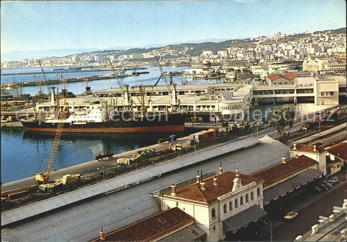 Alger Algerien La Gare et le Port / Algier Algerien /