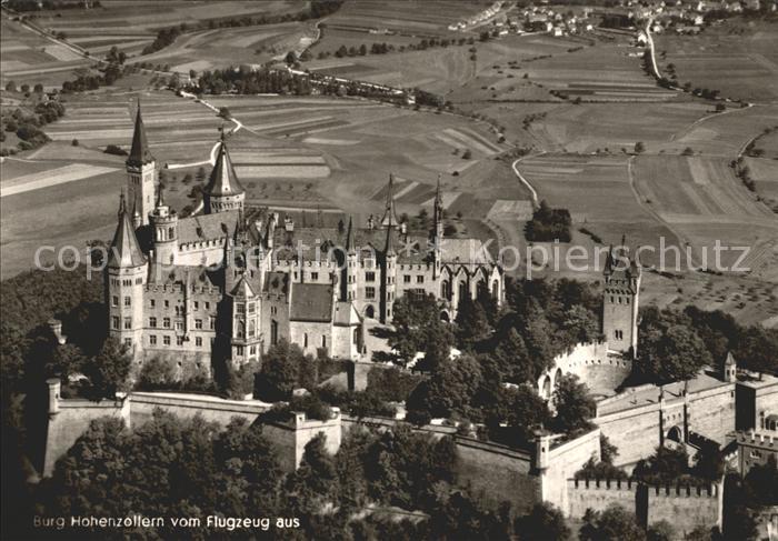Hohenzollern Fliegeraufnahme Burgwirtschaft Fliegeraufnahme Kat. Hechingen