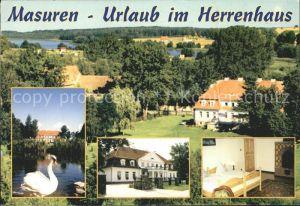 Masuren Niedersee Ostpreussen Herrenhaus Pension  Kat.