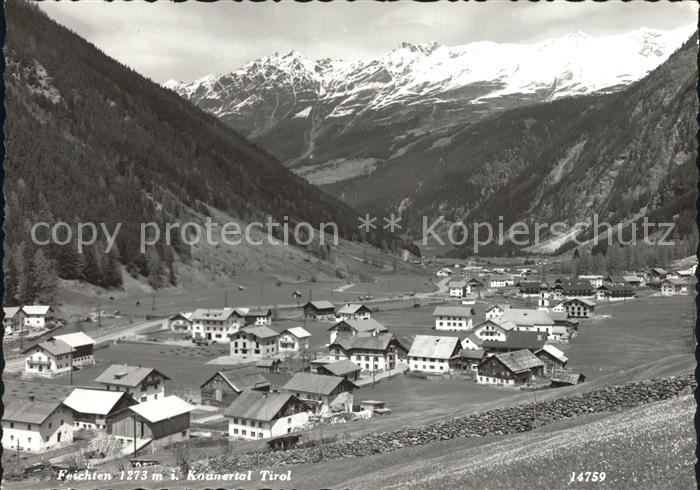 Feichten Kaunertal Panorama Kat. Tirol