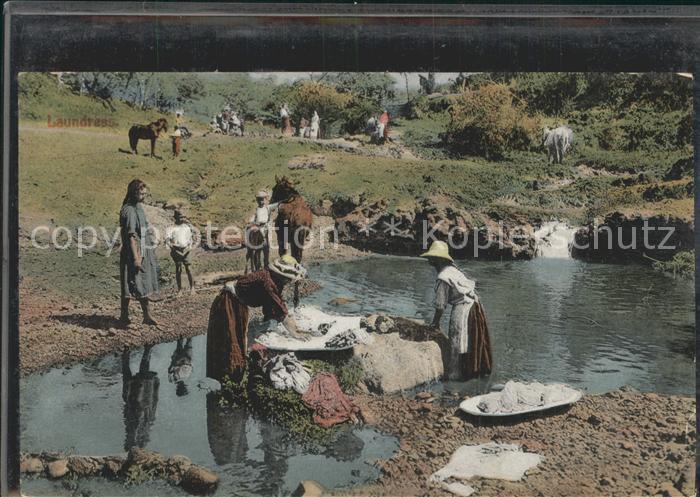 Costa Rica Waschfrauen am Fluss Kat. Costa Rica